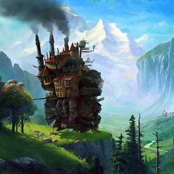 Пазл онлайн: Ходячий замок