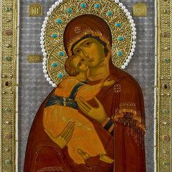 Пазл онлайн: Икона Владимирская Божья Матерь