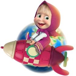 Пазл онлайн: Маша на ракете