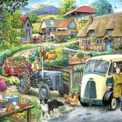 Пазл онлайн: Ферма Орхард