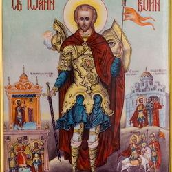Пазл онлайн: Икона Иоанн Воин
