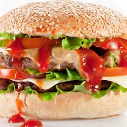 Пазл онлайн: Сочный бургер
