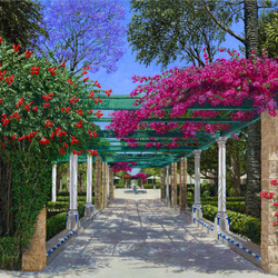 Пазл онлайн: Сад в Кадисе