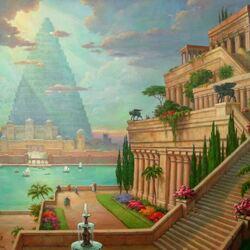 Пазл онлайн: Висячие сады Семирамиды