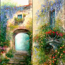 Пазл онлайн: Тосканские зарисовки
