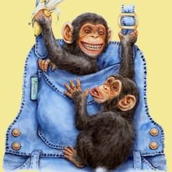 Пазл онлайн: Забавные обезьянки