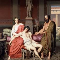 Пазл онлайн: Сократ ворчащий на Алкивиада в доме куртизанки