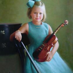 Пазл онлайн: Девочка со скрипкой