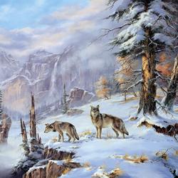 Пазл онлайн: Голодная зима