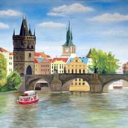 Пазл онлайн: Карлов мост