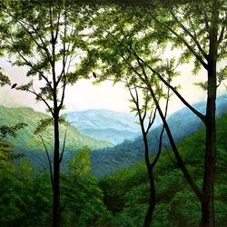 Пазл онлайн: Зеленые вершины