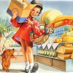 Пазл онлайн: За покупками