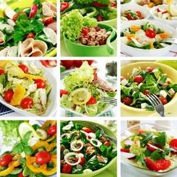 Пазл онлайн: Салатики