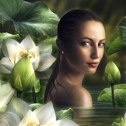 Пазл онлайн: Среди цветов