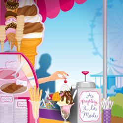 Пазл онлайн: Кафе с мороженым