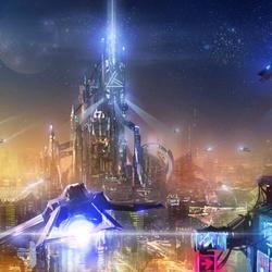 Пазл онлайн: Космический город