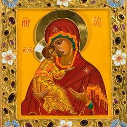Пазл онлайн: Икона Владимирской Божьей Матери