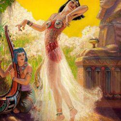 Пазл онлайн: Египетский танец