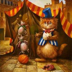 Пазл онлайн: Цирк приехал