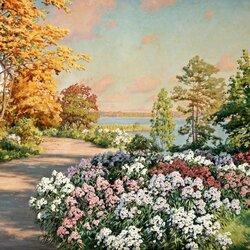 Пазл онлайн: Яркий пейзаж