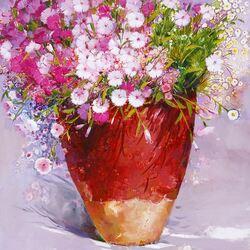 Пазл онлайн: Розовые цветы