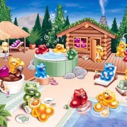 Пазл онлайн: У бассейна