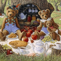 Пазл онлайн: Семейный пикник Бентли