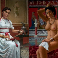 Пазл онлайн: Девушка со свитком. Мессалина