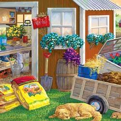 Пазл онлайн: Лето садовода