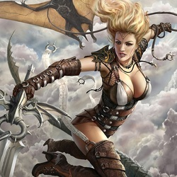 Пазл онлайн: Бой с драконом
