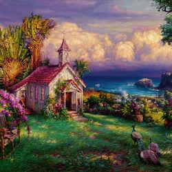 Пазл онлайн: Рай