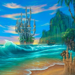 Пазл онлайн: Сказочный остров