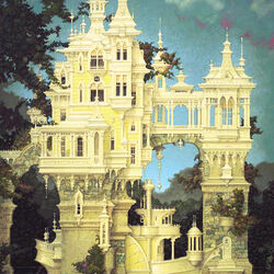 Пазл онлайн: Замок - корабль