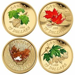 Пазл онлайн: Набор монет Канады
