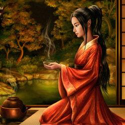 Пазл онлайн: Чайная церемония