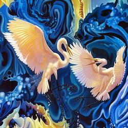 Пазл онлайн: Танец птиц