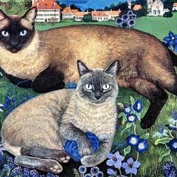 Пазл онлайн: Кошачья пара