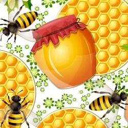 Пазл онлайн: Пчёлки и мёд
