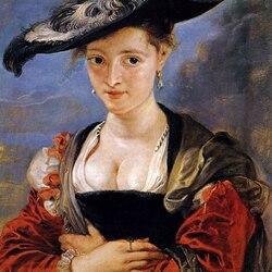 Пазл онлайн: Портрет дамы в соломенной шляпке