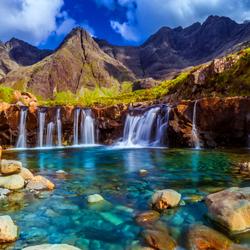 Пазл онлайн: Маленькие водопады