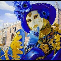 Пазл онлайн: Размышления голубой маски