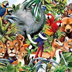 Пазл онлайн: Животные и птицы