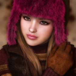 Пазл онлайн: Меховая шапка
