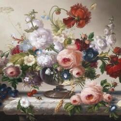 Пазл онлайн: Цветочный натюрморт
