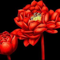 Пазл онлайн: Китайские картины на шелке