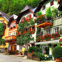 Пазл онлайн:  Гальштат – райский городок древней Австрии