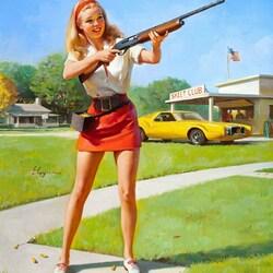 Пазл онлайн: Меткий стрелок