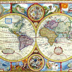 Пазл онлайн: Древняя карта мира