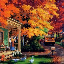 Пазл онлайн: Рыжая осень