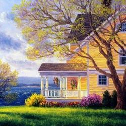Пазл онлайн: Жёлтый дом